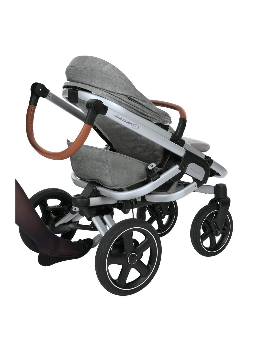 bebe confort poussette tout terrain nova 4 gris. Black Bedroom Furniture Sets. Home Design Ideas