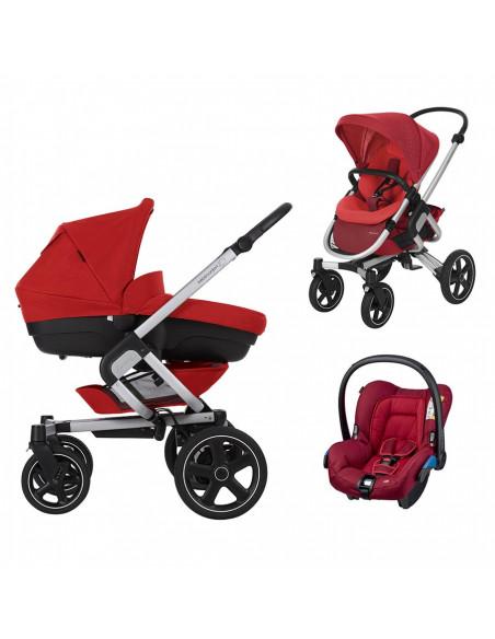 trio bebe confort poussette tout terrain nova 4 rouge. Black Bedroom Furniture Sets. Home Design Ideas