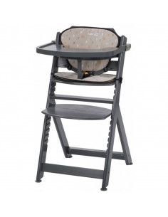 Safety 1st Chaise Haute en bois Timba avec coussin