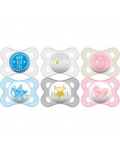 Mam Sucette Decor Message 0-6m Silicone