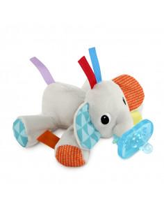 Bright Starts Cozy Coos, giocattolo di peluche con ciuccio