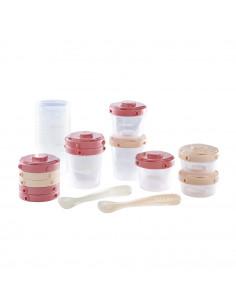 Beaba Pack premier repas Portion Clip cuilleres