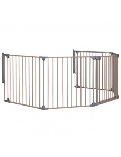 Safety 1st Barriere securite Modulable 5 Gris Taupe
