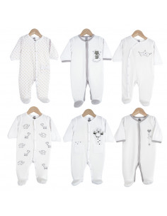 Trois Kilos Sept - 6 Pijamas algodão misto