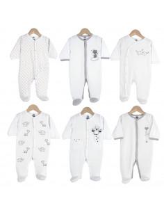 Trois Kilos Sept - 6 Pyjamas Dors bien Y coton mixte