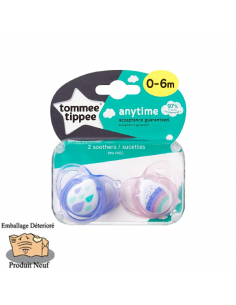 Tommee Tippee Sucette anytime en silicone 0-6 m (2 u.) - Outlet