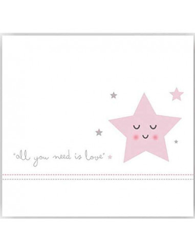 Parure de drap Love Star pour lit bébé 60x120 de Coimasa