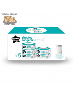 Tommee Tippee x5 Recharges pour poubelle Simplee Sangenic