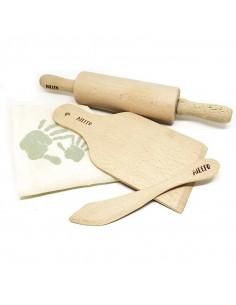Ailefo Set Outils en bois pour Pâte à modeler Bio