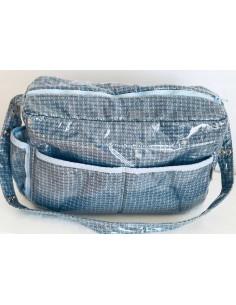 Kunststoffbeschichtete Wickeltasche von Carrusel in blau