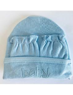 Bonnet, moufles et chaussons de naissance Duffi Baby