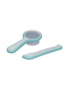 Haarbürste mit integriertem Spiegel und Nylonborsten und Kamm