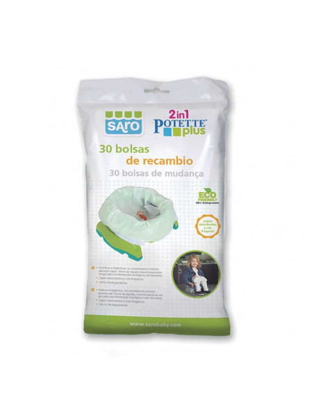 Sacs de rechange pour Pot/Réducteur WC Potette Plus Saro