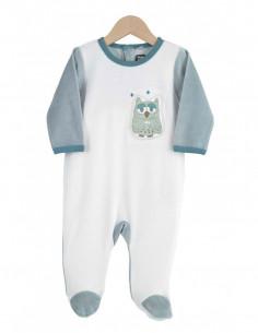 Trois Kilos Sept - Pyjama velours - 9M