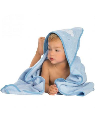Grembiule telo da bagno Blu Clevamama