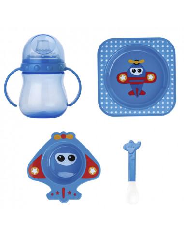 "Set vaisselle bébé ""Fun"" Saro - 4 pièces - micro-ondes"