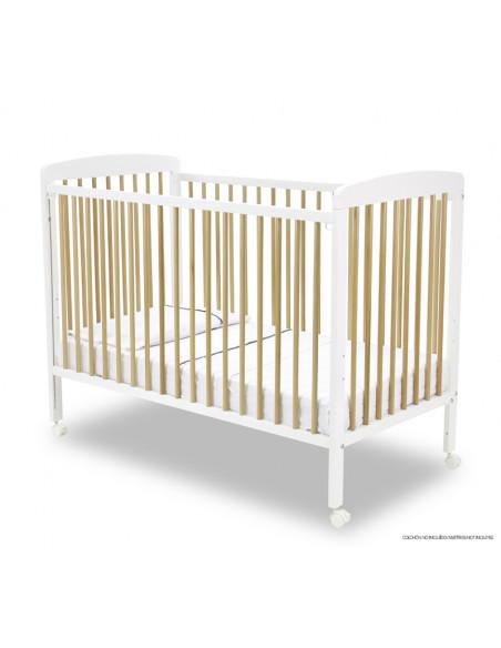 Lit bébé à barreaux Natura - Asalvo - 120 x 60 cm