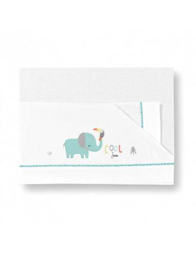 Parure de drap Cool Zoo pour lit bébé 60x120 de Coimasa