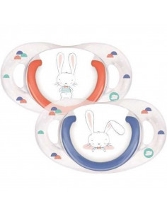 Sucettes natural physio Silicone 6-18 M Bébé Confort Sweet Bunny (x2)