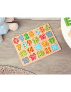 """Puzzle """"Aprendo a contar"""" de Kiokids, brinquedo de madeira"""