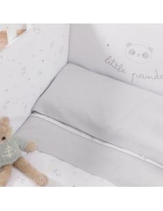 Kit 3 pezzi lenzuoli lettino Little panda Micuna.
