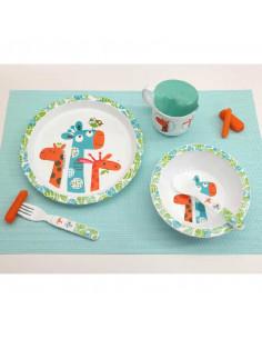 Set vaisselle enfant 5 pièces Girafe
