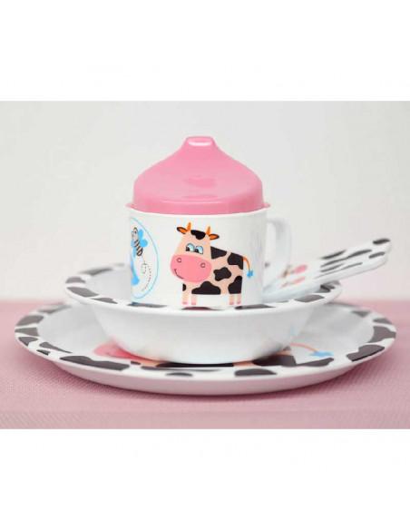 Set vaisselle enfant 5 pièces Vache