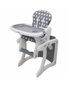 Seggiolone trasformabile in tavolo e sedia