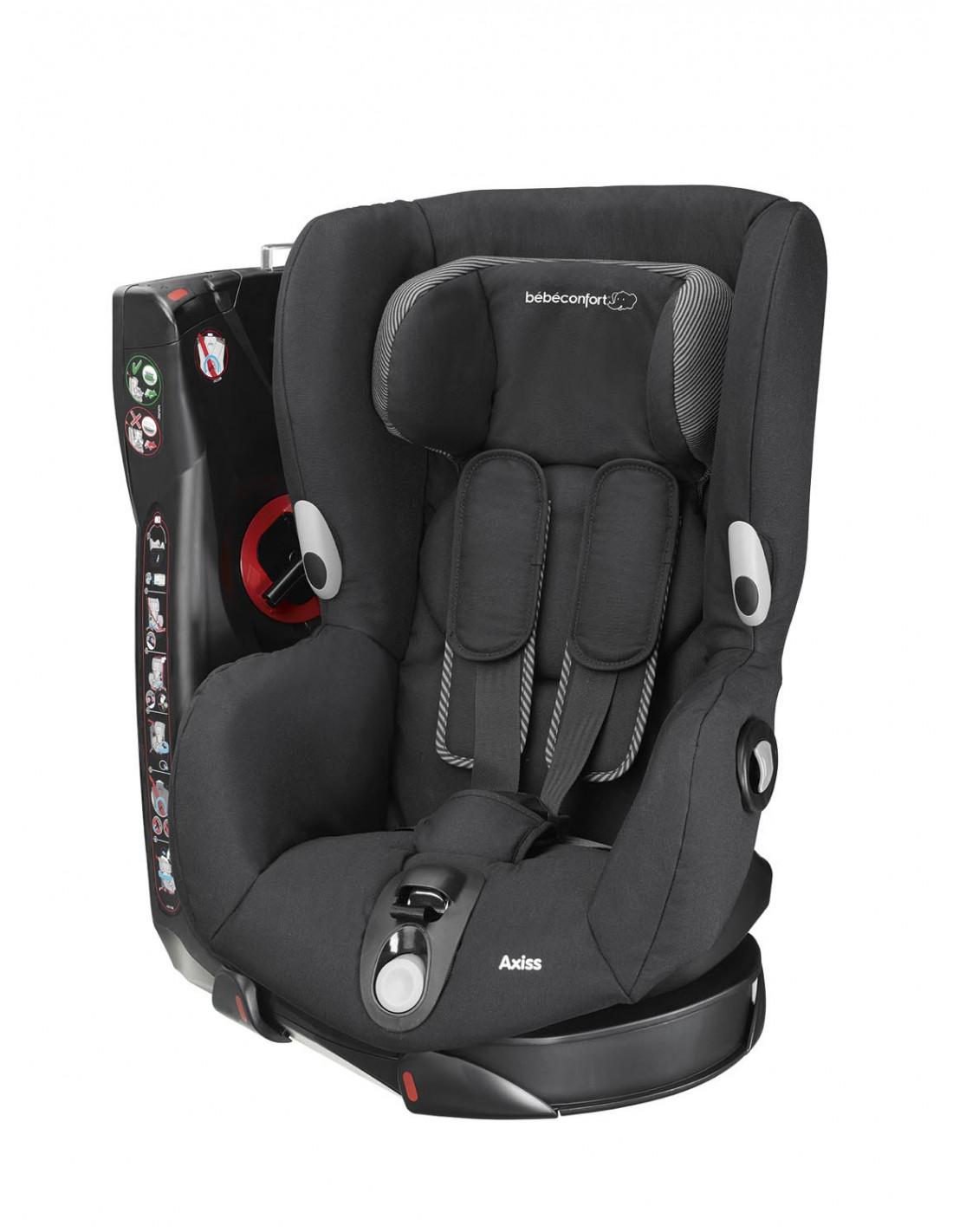 B/éb/é Confort Kindersitz-Schutz Schwarz f/ür Auto